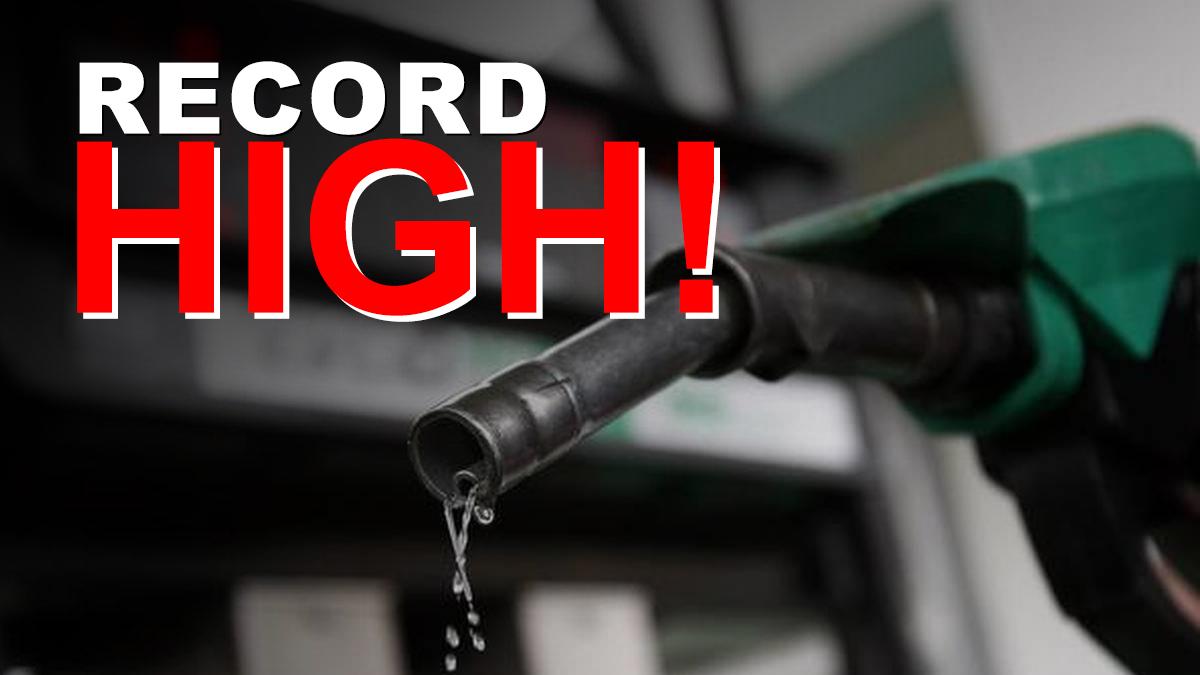 Petrol Price at record High
